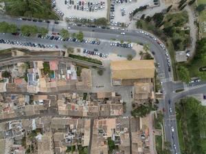 Plaça Sant Jaume und römische Ruinen in Alcúdia
