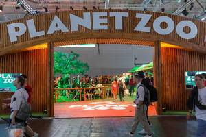 Planet Zoo scenery at Gamescom in Cologne, Germany