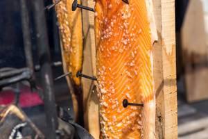 Plank Salmon Finnish-style