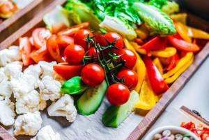 Plate of Fresh Vegetables
