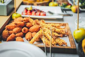 Plate of Fried Seafood