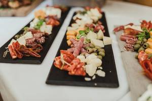 Plate Of Olives, Ham, Cheese, Dried Tomatos (Flip 2019)