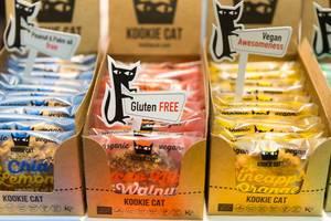 Plätzchen von Kookie Cat verschiedener Geschmacksrichtungen