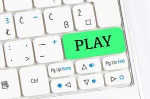Play green keyboard button