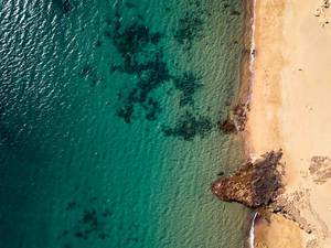 Playa de Papagayo beach from up above / Playa de Papagayo Strand von oben