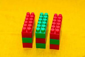 Playing Blocks On Yellow Background