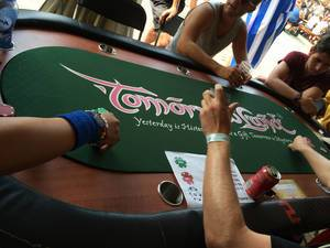 PokahNights poker table - Tomorrowland music festival 2014