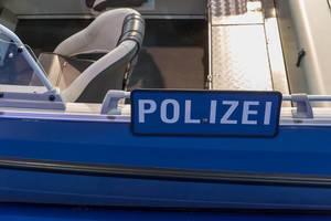Polizeiboot bei der Boot Düsseldorf 2018