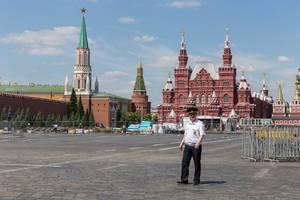Polizist am roten Platz in Moskau