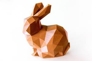 Polygonaler Hase. 3D-Druck