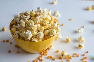 Popcorn Bowl on a White Background  (Flip 2020)