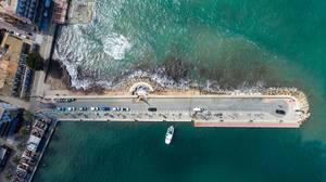 Port Andratx in Puerto de Andraitx, Mallorca aus der Vogelperspektive