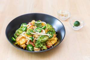 Potato Broccoli Tofu Stir Fry
