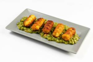 Potato Croquettes with Cooked Green Peas