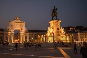 Praça do Comércio at night