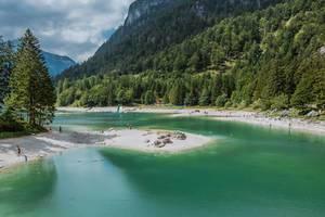 Predil lake in Italy