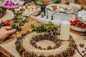 Preperation Of Advent Wreath