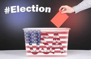 Presidental election in USA concept