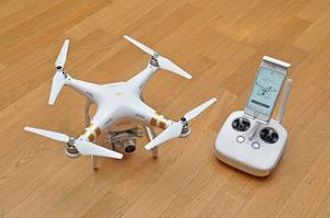 Professional drone for aerial photography: DJI Phantom III