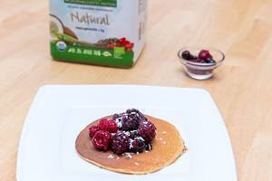 Protein Pancakes made with Sunwarrior Warrior Blend