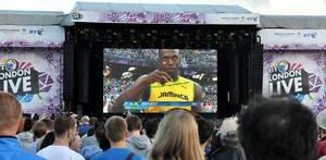 Public Viewing im Hyde Park während der Olympischen Spiele 2012