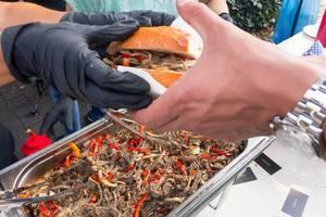 Pulled Beef Rindfleisch-Sandwich - Straßenfest, Köln