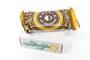 Pulsin - Raw Schokoladen Brownie aus dem vierten Türchen des veganen Foodist Active Adventskalenders