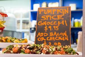 Pumpkin spice gnocchi at Chicago French Market