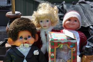 Puppen am Flohmarkt Wien (Naschmarkt)