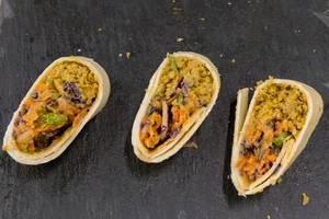 PUR - vegane Bio Wraps mit Quinoa-Köfte, Falafel und indischen Linsen