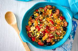 Quinoa Salad with Vegetables Top View
