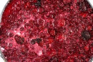 Raspberry Cheese Cake closeup view