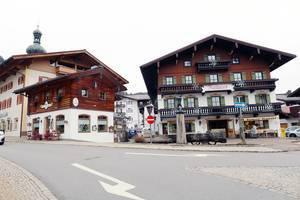 Rathaus in Reit im Winkl, Austria. Town hall