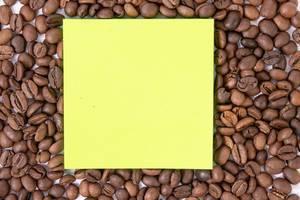Raw Coffee arround empty copy space paper (Flip 2019)