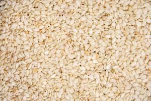 Raw Sesame background closeup image
