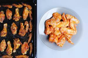 Raw versus baked chicken wings
