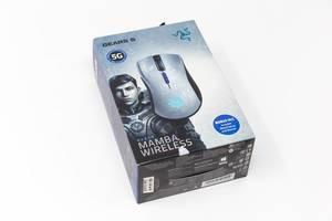 Razer Mamba Wireless: kabellose Gaming-Maus in der Verpackung vor weißem Hintergrund