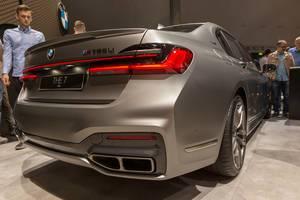 Rear view of the BMW 7er series M760Li xDrive