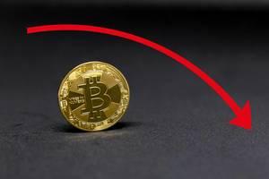 Red Bitcoin Chart
