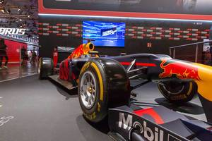 Red Bull race car at F1 2018 booth