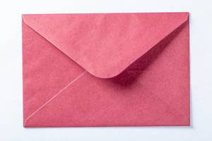 Red envelope for the letter