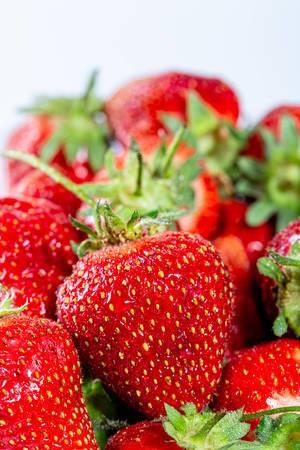Red fresh strawberry closeup