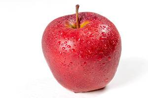 Red ripe apple with drops of water (Flip 2020)