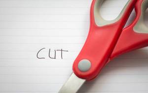 Red Scissor with Word Cut