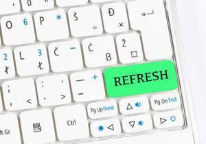Refresh green keyboard button