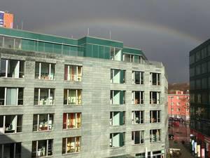 Regenbogen in Köln mit Herkuleshaus