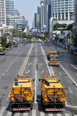 Reinigungsarbeiten in Bangkok