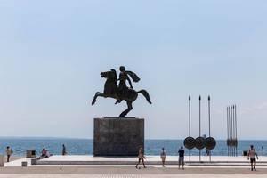 Reiterstatue von Alexander dem Großen in Thessaloniki