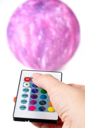 Remote control in a woman
