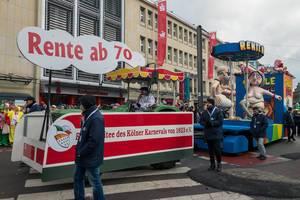 Rente ab 70 - Kölner Karneval 2018